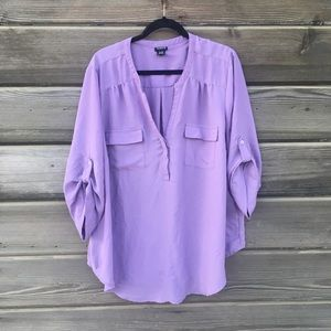 Torrid - Purple 3/4 Sleeve Tunic